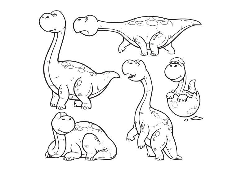 Dinozaury Kolorowanki Do Druku Stylisi